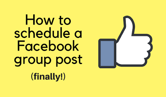 How to schedule a Facebook group post - Build Book Buzz