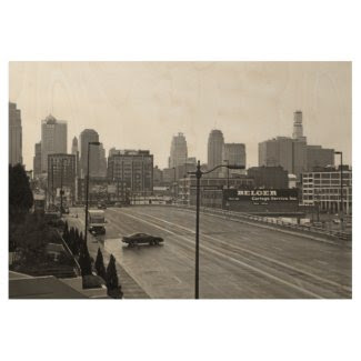Eye-catching Kansas City, Missouri Wood Poster