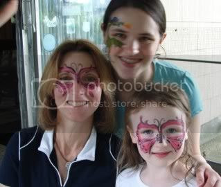 "Facepainting ""Butterflies"" and ""dragon"""
