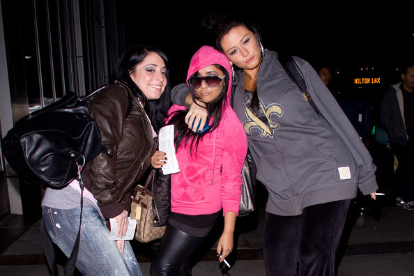 jersey shore girls in italy. Jersey Shore departs LAX