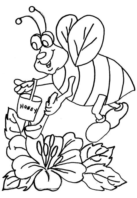 printable bee coloring pages  kids