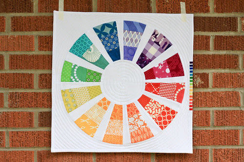 Color Wheel Mini Quilt by jenib320