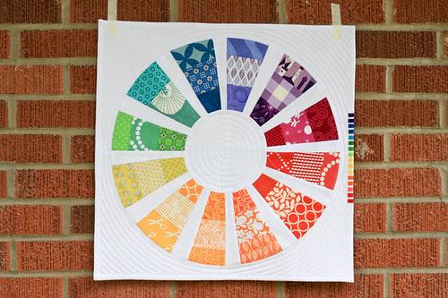 Color Wheel Mini Quilt by jenib320