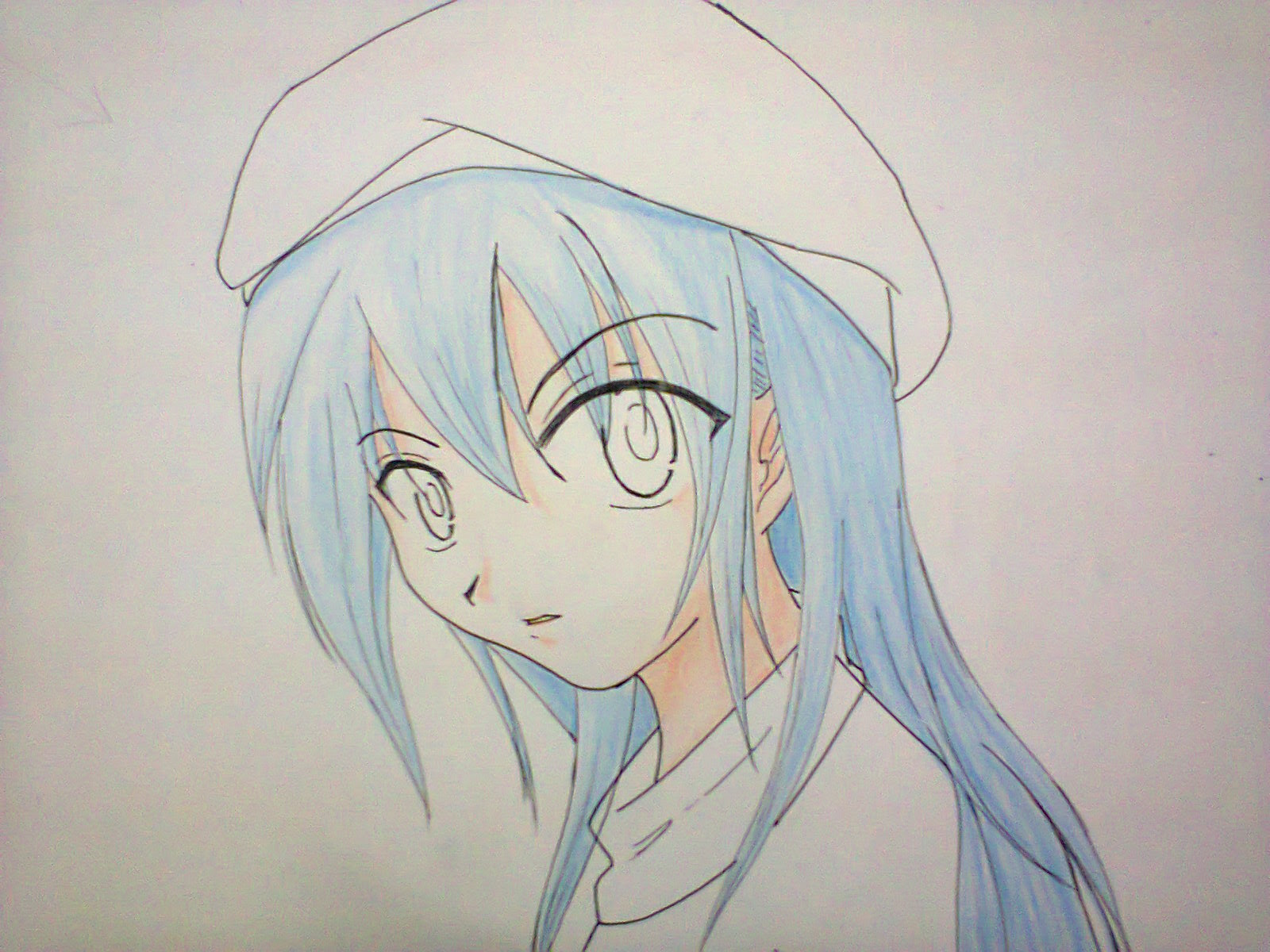 Gambar Anime Rambut Biru - Gambarrrrrrr