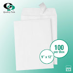 "Quality Park Redi-Strip Catalog Envelope 9"" x 12"" White 100ct QUA 44582"
