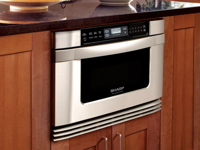 Kitchen Design Denver on This Sharp Microwave Drawer Is Built Into Your Kitchen Cabinets