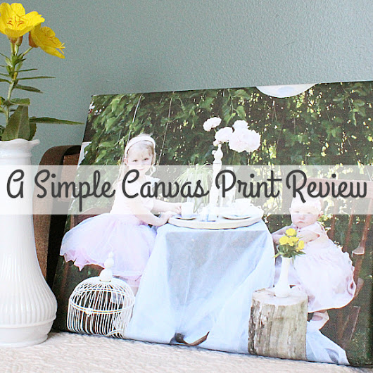 Simple Canvas Prints (An honest review!) - TheProjectPile.com