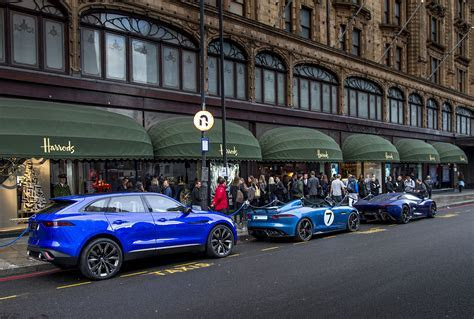 Jaguar shining in Harrods with three concept cars