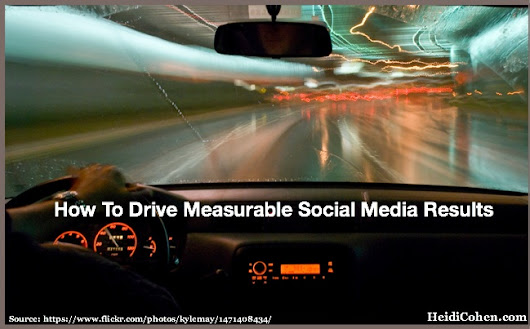 How To Drive Measurable Social Media Results - Heidi Cohen