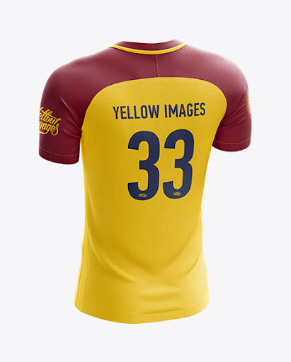 Download Free Men's Soccer Jersey mockup (Back Half Side View) (PSD)