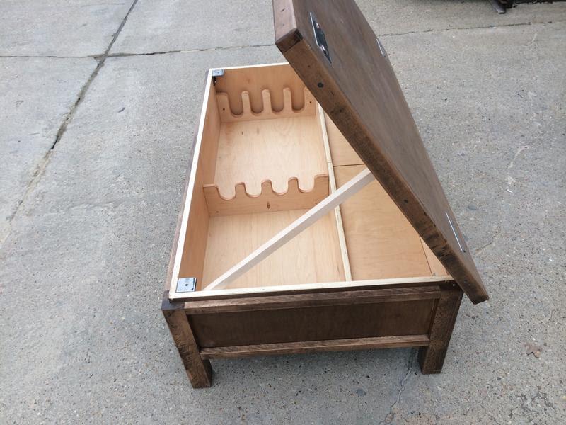 Hidden Gun Compartment in Coffee Table   StashVault