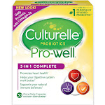 Culturelle Probiotics Pro-Well 3-in-1 Complete Dietary Supplement Capsules - 30 count