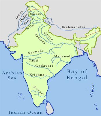 Resultado de imagem para rios índia -paquistão