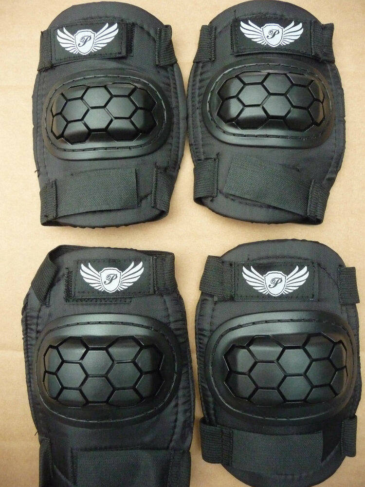 Elbow \u0026 Knee pad Set BMX MTB Bike Cycle Skateboard Scooter Blading Pads NEW  eBay
