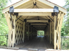 Covered bridge at Hurricane Shoals