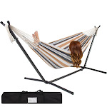 Best Choice Products Double Hammock with Steel Stand, Desert