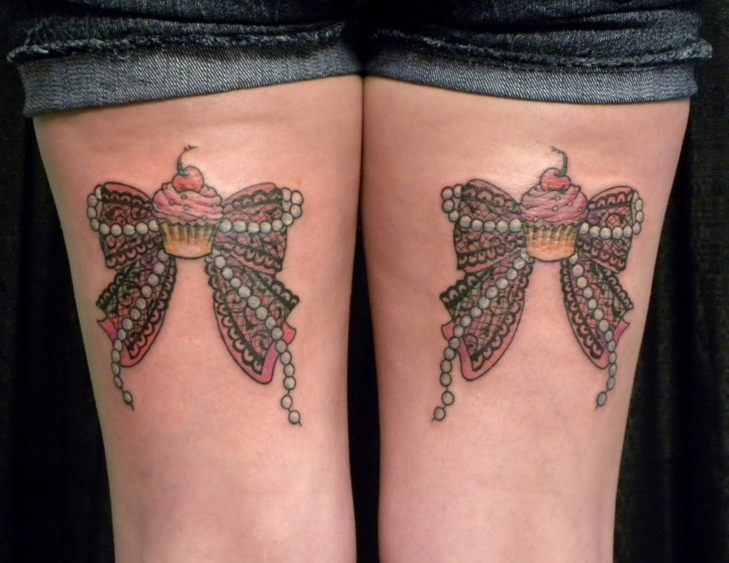 Pictures Of Bow Tattoo Thigh Wwwkidskunstinfo
