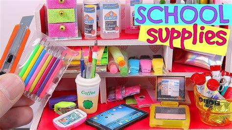diy miniature school supplies youtube