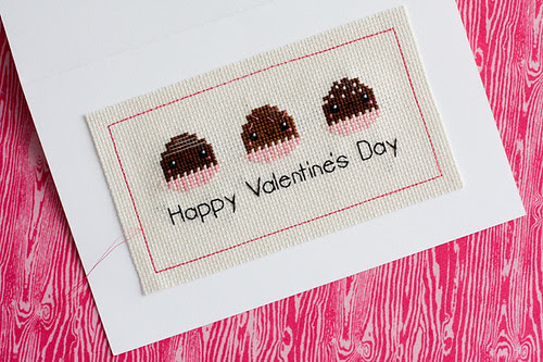 Valentine's Day Cross Stitch Card Tutorial - In Color Order