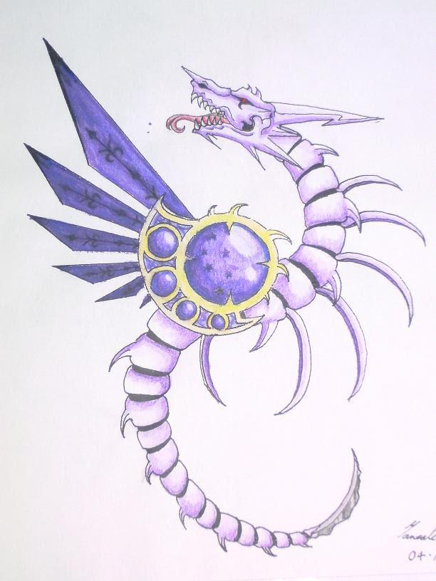 Skeleton Dragon My Tat - shoulder tattoo
