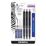 Delguard Mechanical Pencil, 0.5 mm, HB (#2.5), Black Lead, Black Barrel, 3/Pack