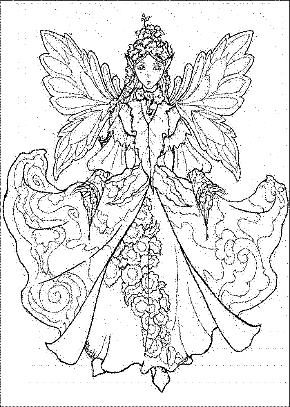 Adult Coloring Page Fairy - Coloring Home