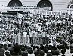 Imagem no acervo do Arquivo Nacional mostra atividade em prol da Lei da Anistia no Rio que contou com a participação de artistas Leia mais