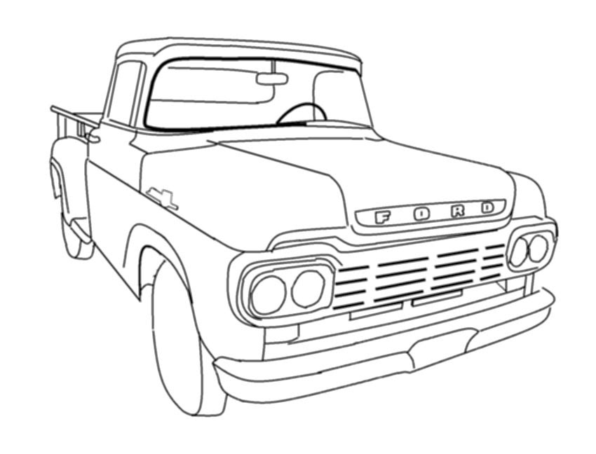 Dodge Ram Coloring Pages Dodge Truck Coloring Pages Dodge Ram ... | 648x850