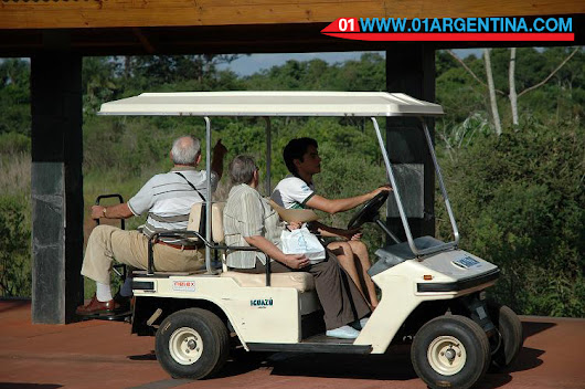Iguazu Falls National Park is a tourist destination with accessibility, wheelchair and small motor vehicles.