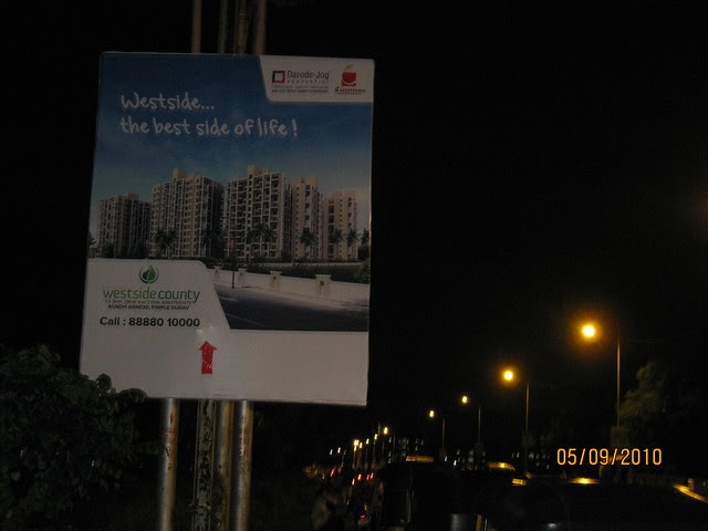 Way to Darode Jog Properties' Westside County Pimple Gurav Pune 411027 - at 8 pm on Sunday Evening