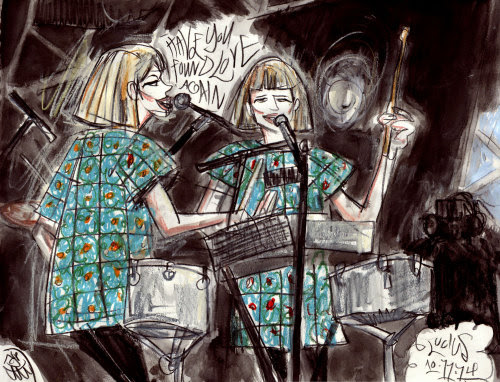 #Drawing #Lucius on a grey afternoon at #ACLfest -...