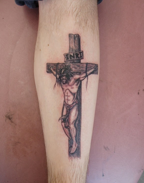 Jesus Cross Tattoos On Arm