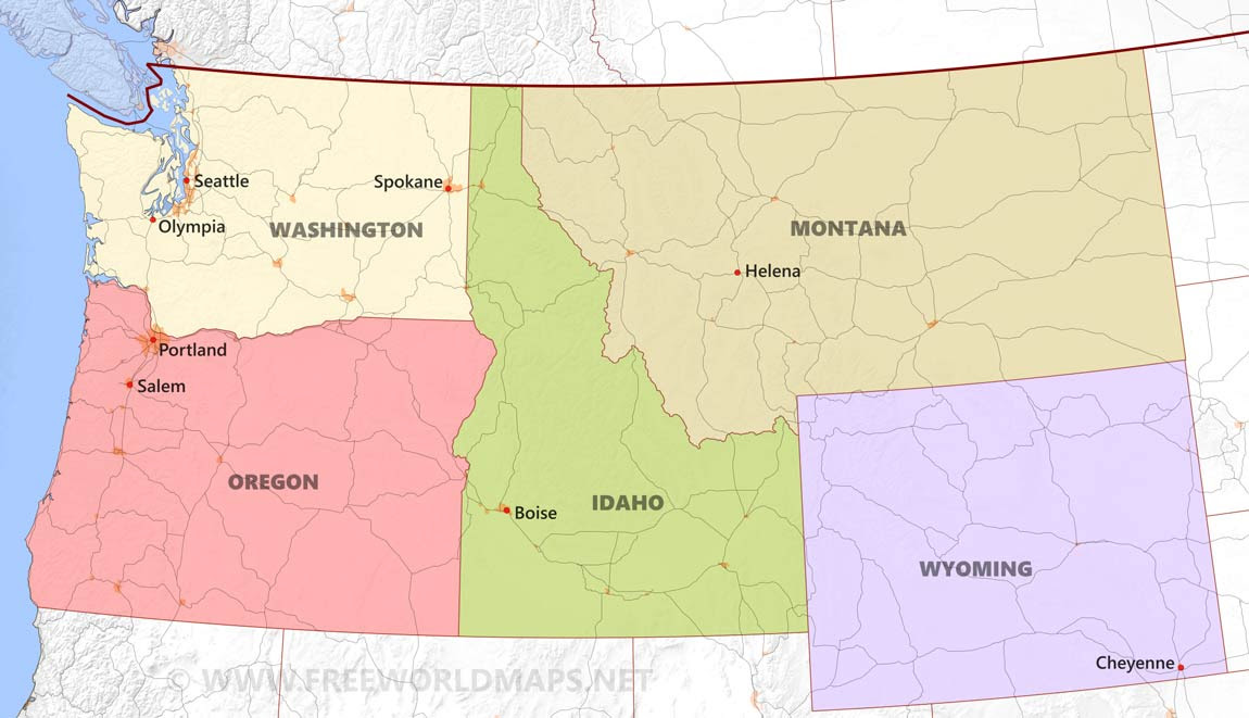 Download USA REGIONAL MAPS to print ~ Source of MAP