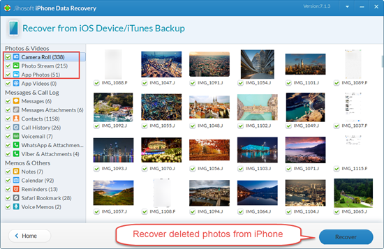How to Recover Deleted Photos from iPhone 7, SE, 6S, 6, 5S, 5C, 5, 4S