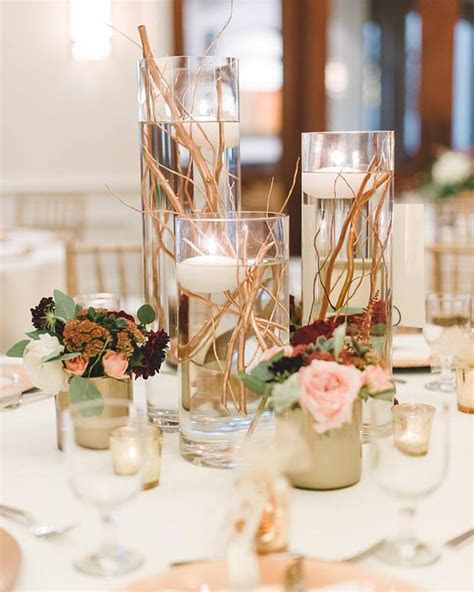 Elegant Gold Stemmed Wedding Centerpieces
