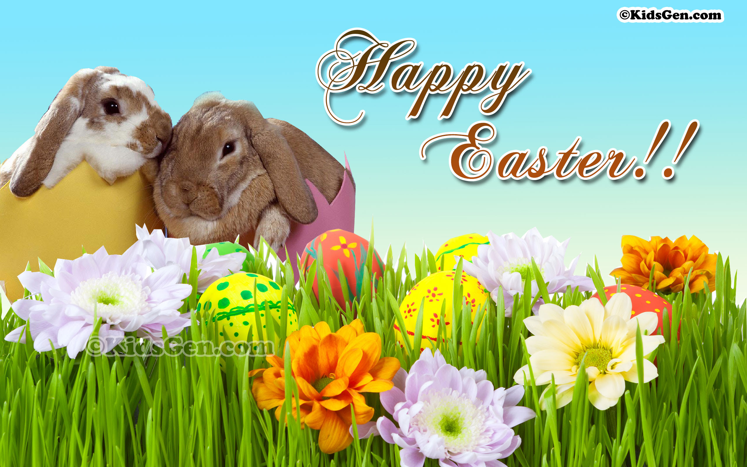 12 HD Easter Wallpapers for Kids