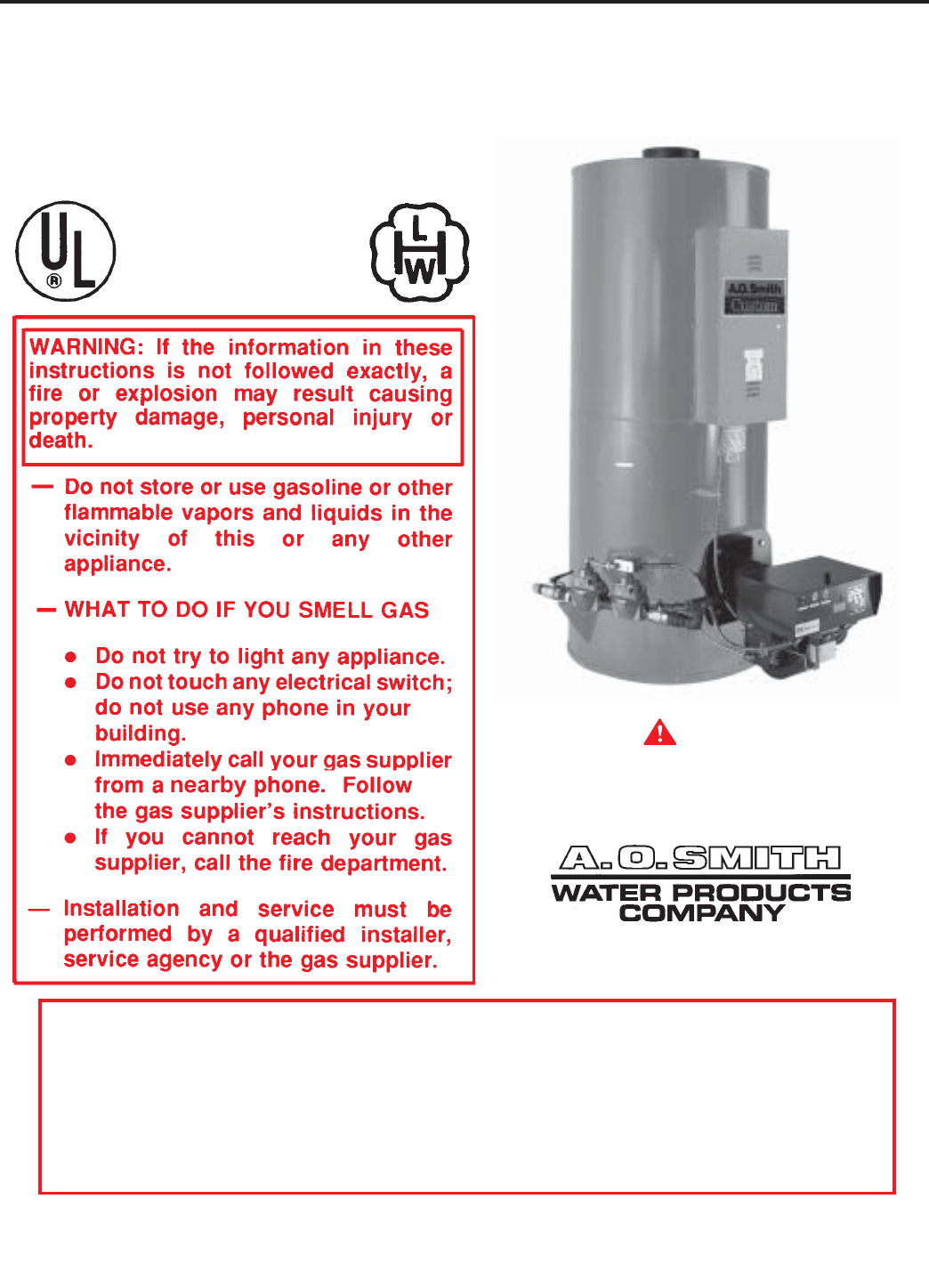 A o smith water heater air filter