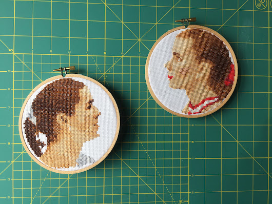 Free Pattern Friday - Tonya Harding and Nancy Kerrigan