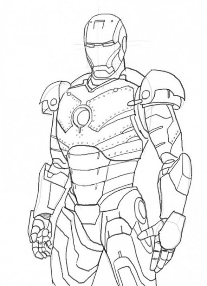 Get This Printable Ironman Coloring Pages Online 59307