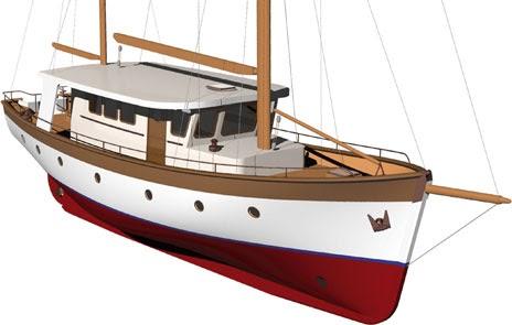 Wooden boat keel design | Biili Boat plan
