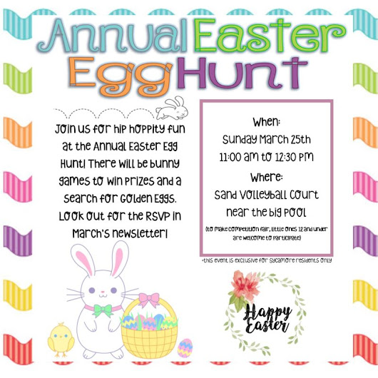 Easter Egg Hunt 2018 at Apartments in Temecula | Sycamore Terrace