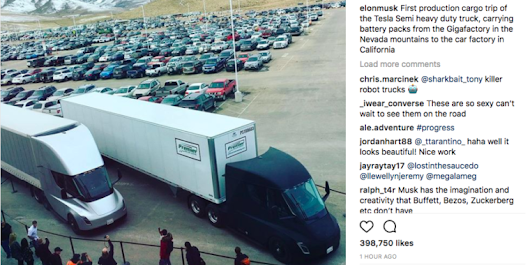 First Tesla Semis leave Nevada Gigafactory, filled with batteries