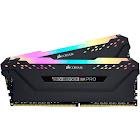 Corsair - Vengeance RGB Pro 16GB (2PK 8GB) 3.2GHz PC4-25600 DDR4 DIMM Unbuffered non-ECC Desktop Memory Kit with RGB Lighting - Black