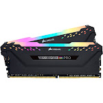Corsair - Vengeance RGB Pro 16GB (2PK 8GB) 3.2GHz PC4-25600 DDR4 DIMM Unbuffered non-ECC Desktop Memory Kit with RGB Lighting - Black