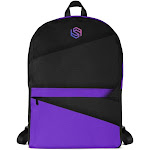 Compact Laptop Backpack - Purple Slasher