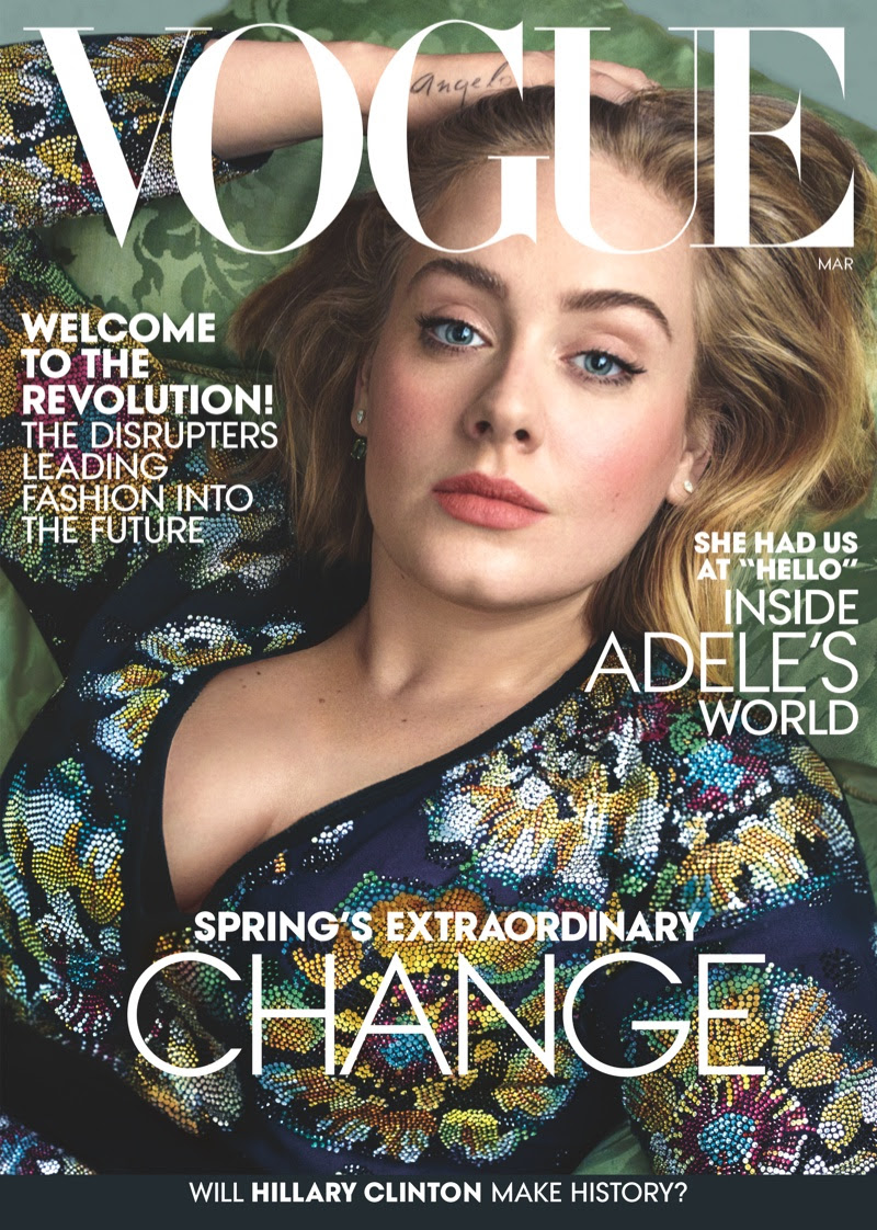 Adele on Vogue Magazine March 2016 cover