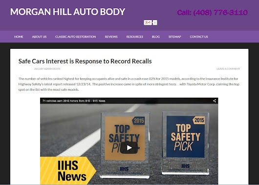 Safe Cars Interest is Response to Record Recalls - Morgan Hill Auto Body