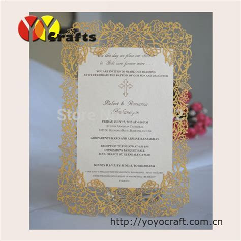 INC34 Customized Rose Design Invitation Card with Printing