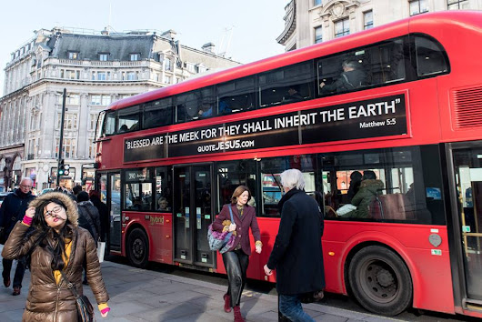 Quote Jesus! London Buses Display Bible Verses | Heartsong Live | Edinburgh - The No.1 Online Christian Radio Station - Heartsong Radio