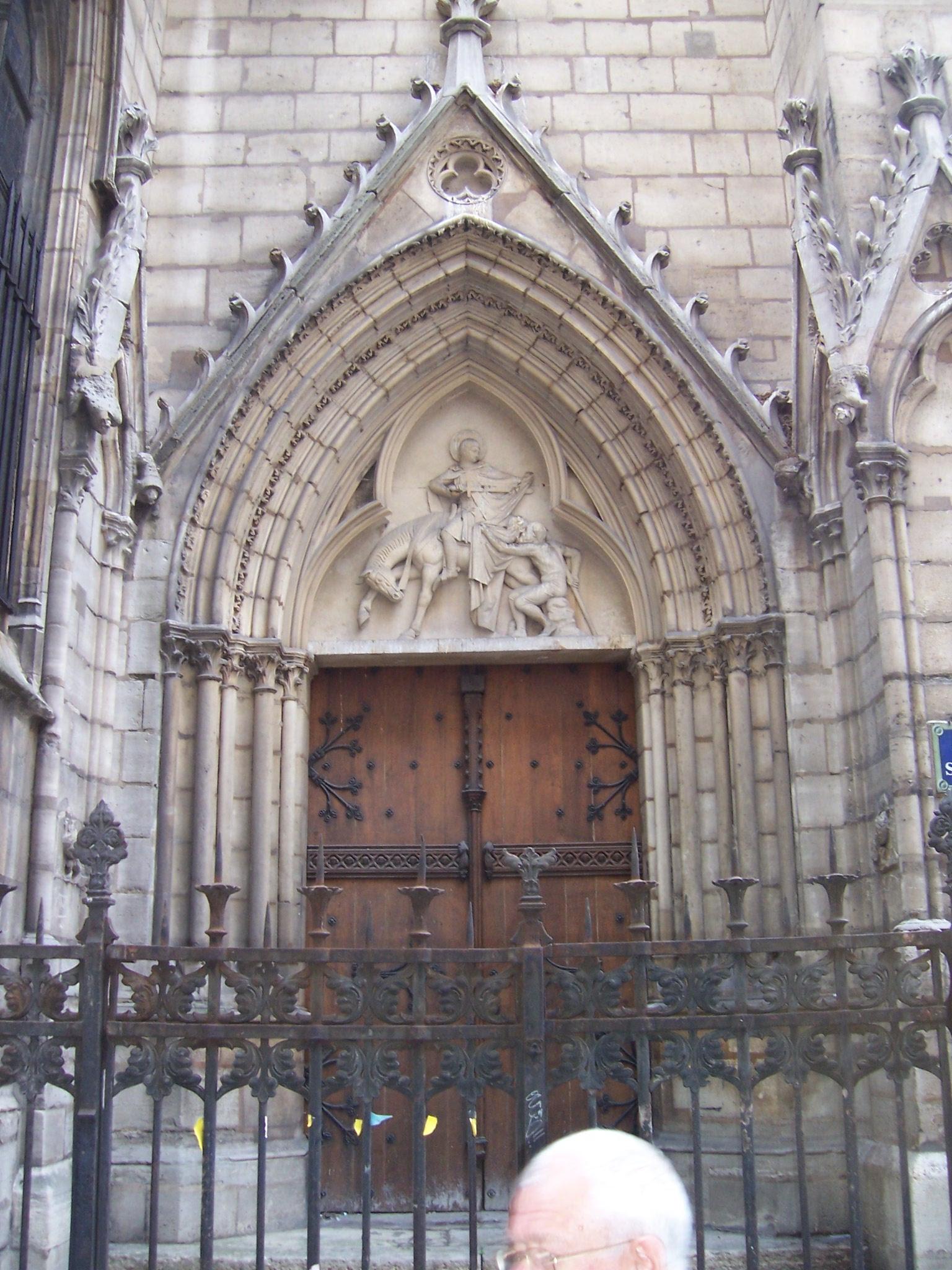 Photo du portail de l'église Saint Séverin à Paris quartier Saint Michel